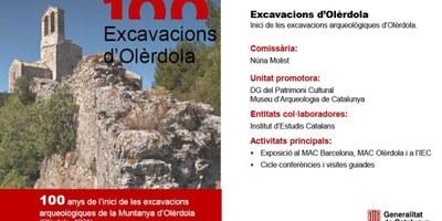La Generalitat commemorarà amb una exposició, xerrades i visites guiades el centenari de les excavacions arqueològiques a Olèrdola