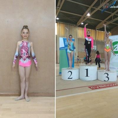 La gimnasta del Rítmica Olèrdola Marta Gálvez, segona a la Final Territorial de Barcelona