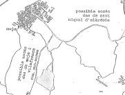 A la zona ombrejada del mapa(part inferior)s'ubicaria la granja