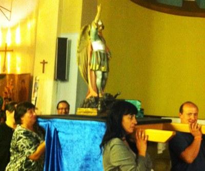 La imatge de l'arcàngel Sant Miquel participarà en la cercavila de la Festa Major