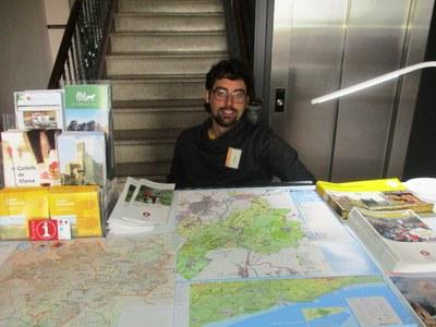La majoria dels visitants atesos en el Punt d'Informació Turística provenen del Barcelonès
