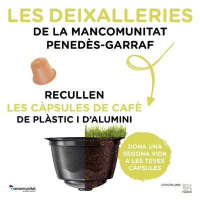 La Mancomunitat instal·la punts per la recollida selectiva de càpsules monodosi de cafè a les deixalleries que gestiona