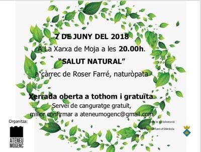 """La naturòpata Roser Farré oferirà aquest dijous a Moja la xerrada """"Salut natural"""""""