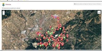 La nova plataforma digital dels Mapes de Patrimoni cultural de la Diputació recull 195 elements patrimonials d'Olèrdola