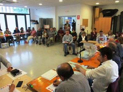 Moment del recompte de les eleccions europees al Centre Cívic La Xarxa de Moja