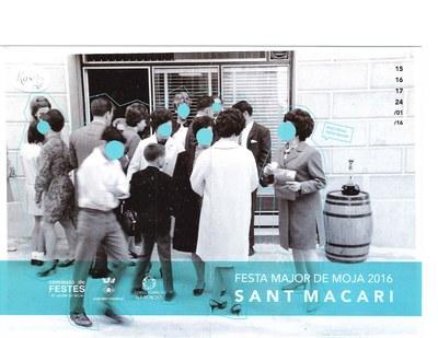 Imatge del programa de la Festa Major de Sant Macari