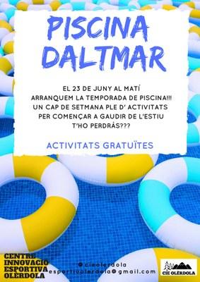 La piscina municipal de Daltmar obre dissabte 23 de juny