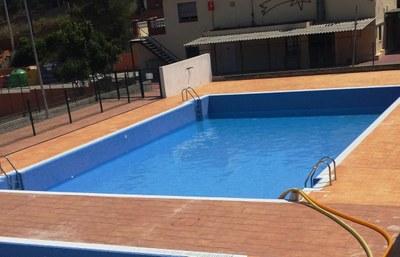 Imatge de la piscina aquest divendres