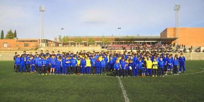 La presentació dels equips del Base Olèrdola es converteix en una gran festa del futbol formatiu