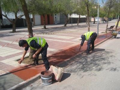 La setmana que ve finalitzaran les obres de reforma del paviment de la Rambla Catalunya de Moja