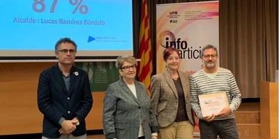 La Universitat Autònoma de Barcelona lliura a l'Ajuntament d'Olèrdola el segell InfoParticipa