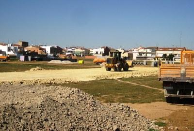 Imatge de les obres a La Plana de Moja, aquest dilluns
