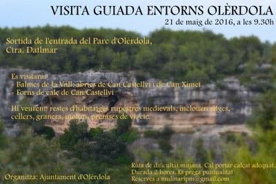 La visita a les Coves de la Vall  dóna continuïtat a les rutes pel patrimoni d'Olèrdola