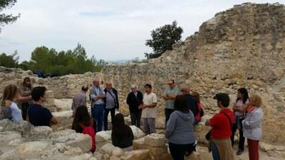 La visita al Pla dels Albats reunia dissabte a una trentena de persones
