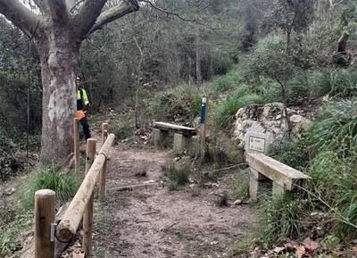 Treballs a la font de l'Alba (foto: Xarxa Parcs Naturals)