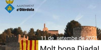 L'Ajuntament d'Olèrdola us desitja una molt bona Diada Nacional de Catalunya