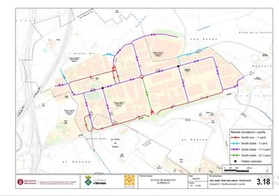 Les avingudes de Barcelona i de Vilafranca i el carrer Montseny del polígon de Sant Pere Molanta passaran a ser de direcció única