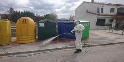 Les desinfeccions a la via pública d'Olèrdola es realitzaran tots els dies d'activitat del servei de neteja, de dilluns a dissabte