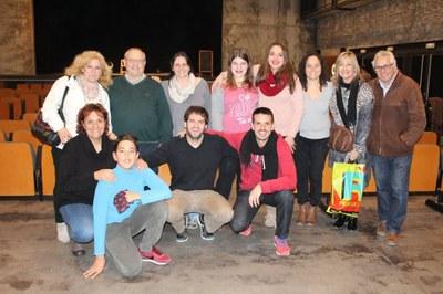 Membres de la Comissió de Festes i de l'Agrupació de Balls, amb Jordi Gil