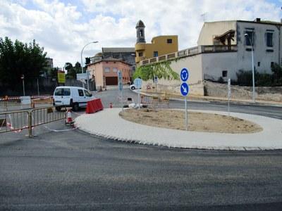 Les obres de la rotonda d'accés a Moja es preveuen finalitzar aquesta setmana