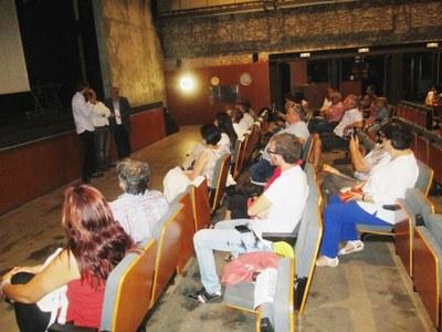 L'alcalde d'Olèrdola, Lucas Ramírez, intervenint en l'acte de presentació del projecte