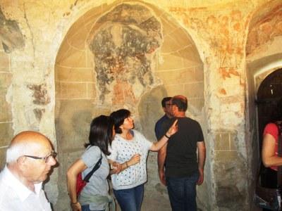 Les visites gratuïtes al Sant Sepulcre d'Olèrdola han comptat aquest diumenge amb 75 participants