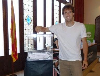 Lucas Ramírez durant el ple de constitució del Consell Comarcal