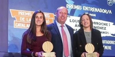 Luri Sorroche, entrenadora del Moja, comparteix amb l'entrenadora de la FE Palamós un dels premis solidaris de la Fundació Catalana de Futbol