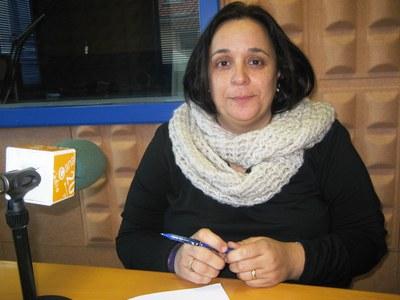 Mari Carme Villanueva, aquest dimecres a l'estudi de la ràdio municipal