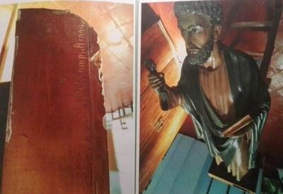 Mariona Rovira ha conservat la imatge de Sant Pere de l'església de Sant Pere Molanta