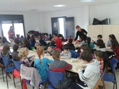 El taller a Sant Pere Molanta, aquest migdia