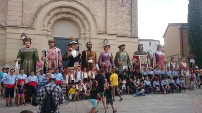 Moja ha viscut amb participació i ambient festiu  la seva 1a Trobada de Gegants