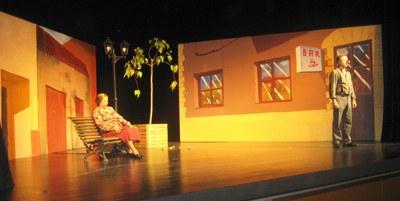 Moment de la representació, aquest diumenge al Local Nou de Moja