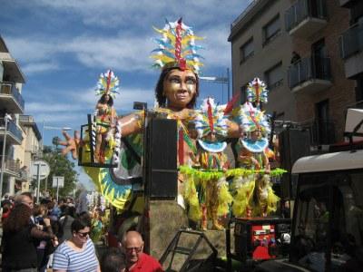 """""""Els ulls del Carnaval"""", carrossa del grup de Moja"""