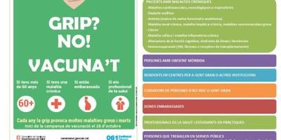 Oberta la campanya de vacunació contra la grip fins el  29 de novembre