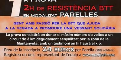 Obertes les inscripcions per a participar en la 1a prova de resistència BTT en la modalitat de parelles
