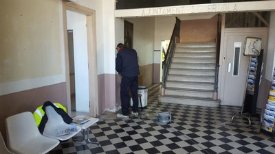 Obres a l'edifici de l'Ajuntament per millorar l'accessibilitat i l'eficiència energètica
