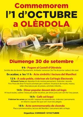 Olèrdola commemora aquest diumenge l'1 d'Octubre