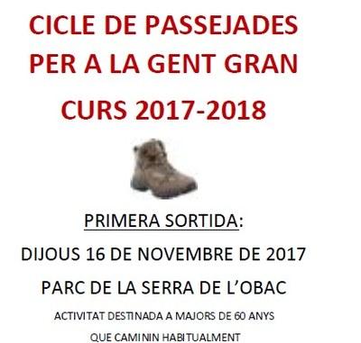 Olèrdola participa en el cicle de passejades per a la gent gran que organitza la Diputació