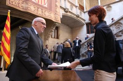 Olèrdola participa en l'acte del món municipal a favor de la consulta