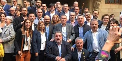 Olèrdola participava dissabte en l'acte convocat al Palau de la Generalitat per mostrar el rebuig del món municipalista a la sentència del procés