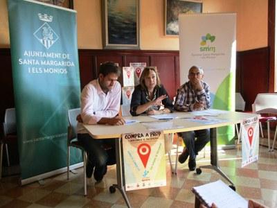 Lucas Ramírez, Imma Ferret i Miquel Delgado en la presentació de la campanya