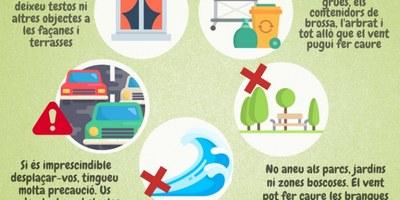 Protecció Civil de la Generalitat manté l'Alerta del Pla VENTCAT per l'episodi de fort vent