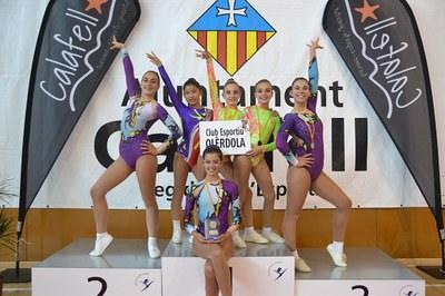 Quatre medalles de l'Aeròbica Olèrdola en la última fase de la Copa Catalana