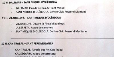 RECTIFICACIÓ: La Junta Electoral (i no l'Ajuntament) facilita transport gratuït per anar a votar diumenge des de Can Trabal, Daltmar i Viladellops