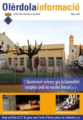 """S'edita el butlletí municipal """"Olèrdola Informació """" d'aquest mes de gener"""