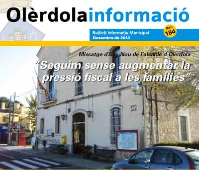 """S'edita el butlletí municipal """"Olèrdola Informació"""" corresponent a aquest mes de desembre"""