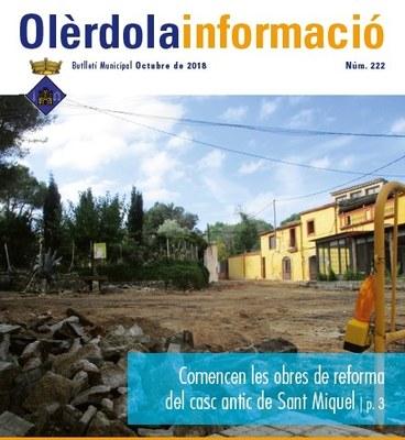 """S'edita el butlletí municipal """"Olèrdola Informació"""" d'aquest mes d'octubre"""