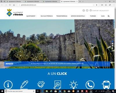 S'enllesteix la nova web municipal d'Olèrdola, amb disseny més dinàmic i millora de continguts