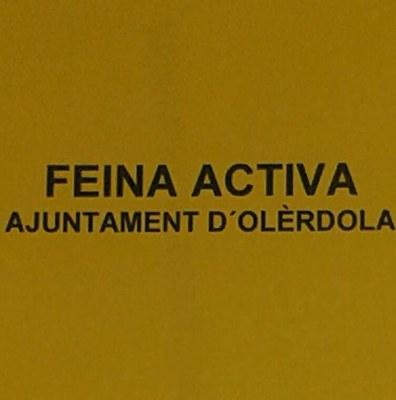 """S'obre a Facebook la pàgina """"Feina Activa Olèrdola""""per a facilitar l'accés a ofertes de treball"""